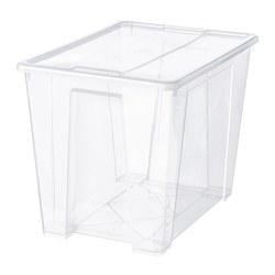 SAMLA - Kotak dengan penutup, transparan
