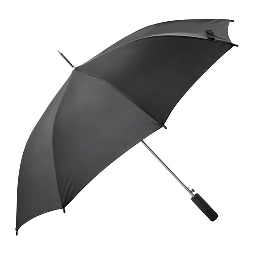 KNALLA umbrella, black | IKEA Indonesia
