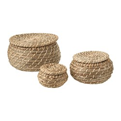 FRYKEN - FRYKEN, box with lid, set of 3, seagrass