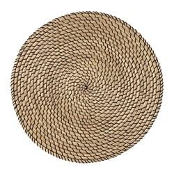 LÄTTAD - Place mat, seagrass/black