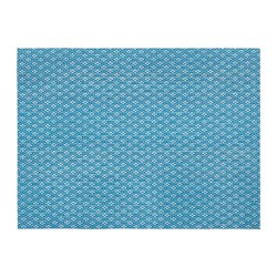 GALLRA - Place mat, blue/patterned