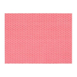 GALLRA - Place mat, red/patterned
