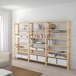 IVAR - IVAR, 3 bagian/rak, kayu pinus, 259x30x179 cm
