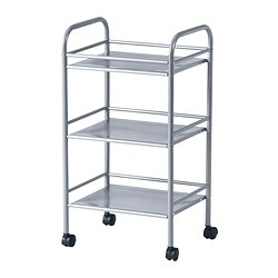 DRAGGAN - Trolley, silver-colour