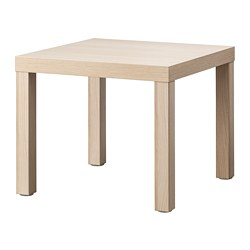 LACK - Side table, white stained oak effect