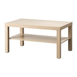 LACK - Coffee table, white stained oak effect