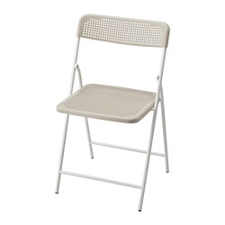 TORPARÖ - Chair, in/outdoor, foldable white/beige
