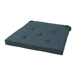 JUSTINA - Chair pad, dark blue/striped