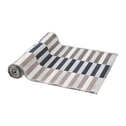 MITTBIT - Table-runner, black beige/white