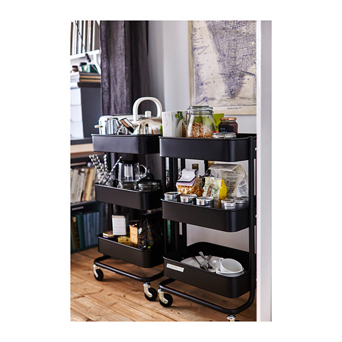 RÅSKOG - trolley, black, 35x45x78 cm | IKEA Indonesia - PH136906_S4