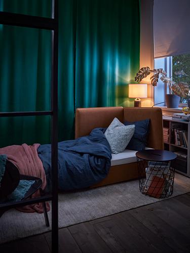 MAJGULL - block-out curtains, 1 pair, dark turquoise, 145x250 cm   IKEA Indonesia - PH176288_S4