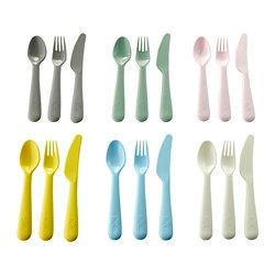 KALAS - 18-piece cutlery set, mixed colours
