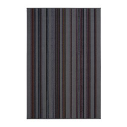 KALDRED - Karpet, bulu tipis, garis-garis, 120x180 cm