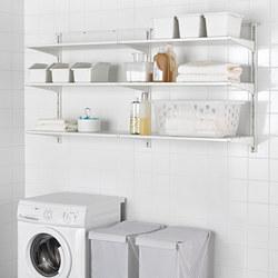 ALGOT - Wall upright/shelves, white
