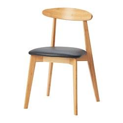 HANSOLA - Kursi, bambu/Kimstad hitam