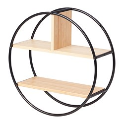 HEDEKAS - Display shelf, round/bamboo