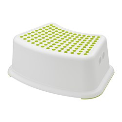 FÖRSIKTIG - Children's stool, white/green