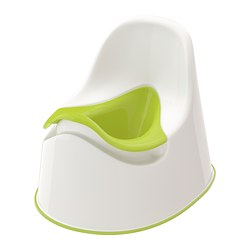 LOCKIG - Children's potty, white/green