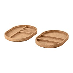 SAXBORGA - Tray, set of 2, cork