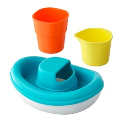 SMÅKRYP - 3-piece bath toy set, boat
