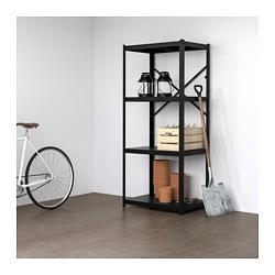 BROR - 1 section/shelves, black