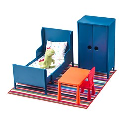 HUSET - Perabot boneka, kamar tidur