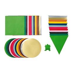 LUSTIGT - Kertas origami, warna campuran/bentuk campuran