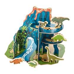 JÄTTELIK - Set dunia dinosaurus 12 unit