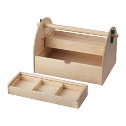 LUSTIGT - Wadah penyimpan prakarya, kayu