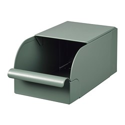 REJSA - Box, grey-green/metal