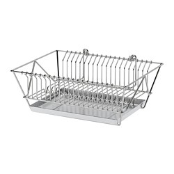 FINTORP - Dish drainer, nickel-plated