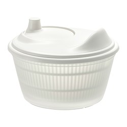 TOKIG - Salad spinner, white