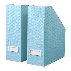 PALLRA - Magazine file set of 2, light blue