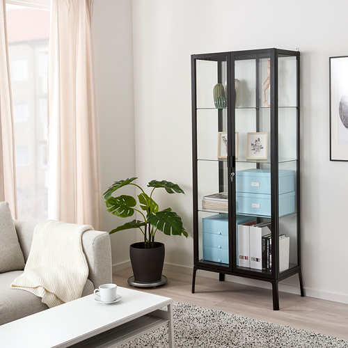 MILSBO - kabinet pintu kaca, antrasit, 73x175 cm | IKEA Indonesia - PE772079_S4