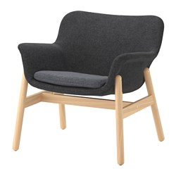 VEDBO - Armchair, Gunnared dark grey