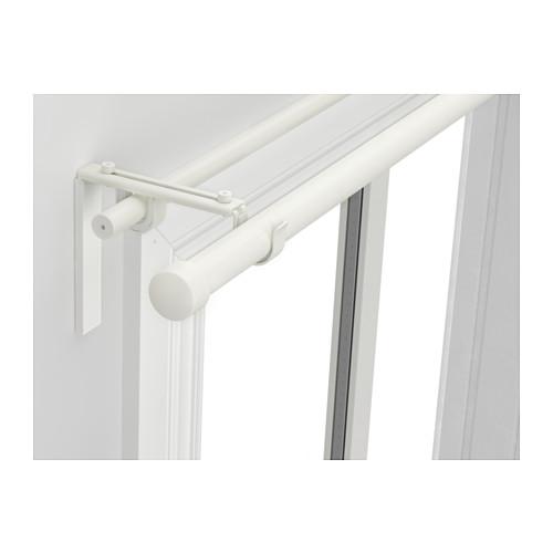 HUGAD/RÄCKA - kombinasi batang gorden ganda, putih, 120-210 cm | IKEA Indonesia - PE514200_S4