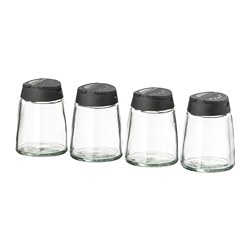 IKEA 365+ IHÄRDIG - Spice jar, glass/black