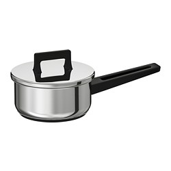 SNITSIG - SNITSIG, saucepan with lid, stainless steel, 1 l