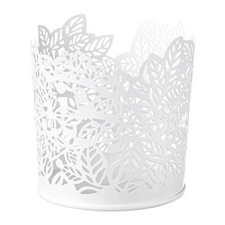 SAMVERKA - Tealight holder, white