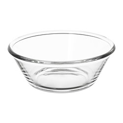 VARDAGEN - Serving bowl, clear glass