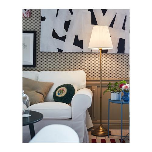 ÅRSTID - lampu lantai, kuningan/putih   IKEA Indonesia - PH164458_S4