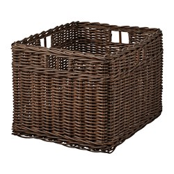 GABBIG - Basket, dark brown