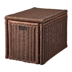 GABBIG - Kotak penyimpanan, cokelat tua