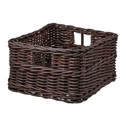 GABBIG - GABBIG, basket, dark brown, 25x29x15 cm
