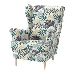 STRANDMON - Wing chair, Gillhov multicolour