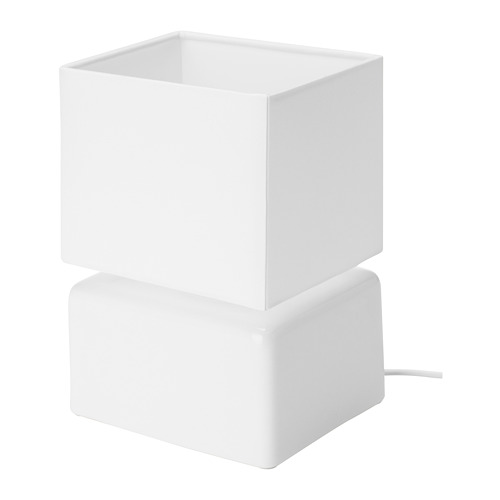 VISSLEBO - lampu meja, keramik putih | IKEA Indonesia - PE729445_S4