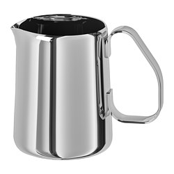 MÅTTLIG - Milk-frothing jug, stainless steel