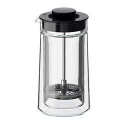 EGENTLIG - Coffee/tea maker, double-walled/clear glass