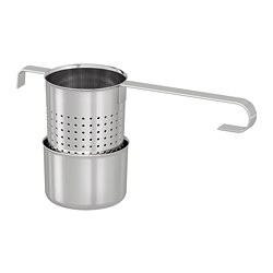 LJUDLÖS - Tea infuser, stainless steel