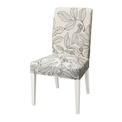 HENRIKSDAL - Chair, white/Vislanda black/white